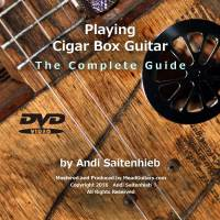 DVD-Cover Playing Cigar Box Guitar